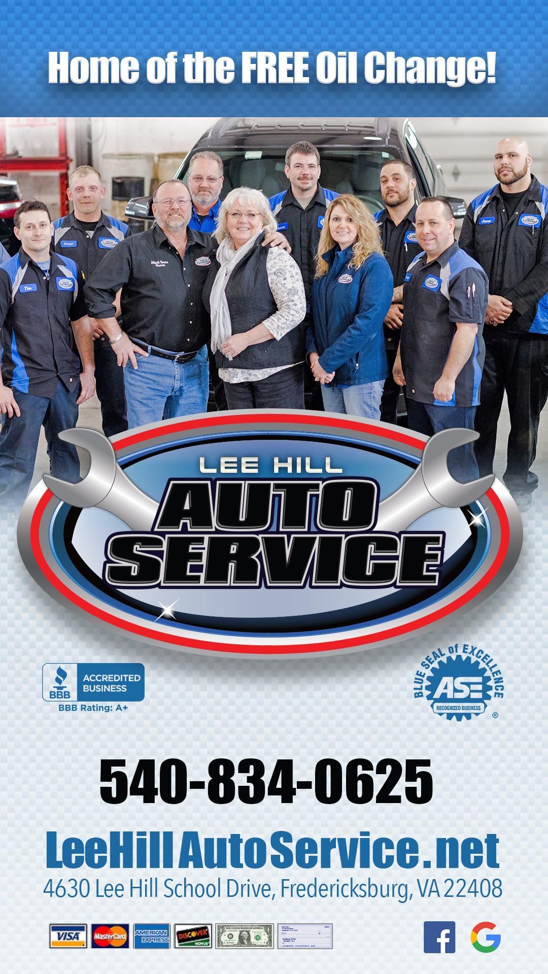 Lee Hill Auto Service Is Family And Veteran Owned We Are Our Community S Repair