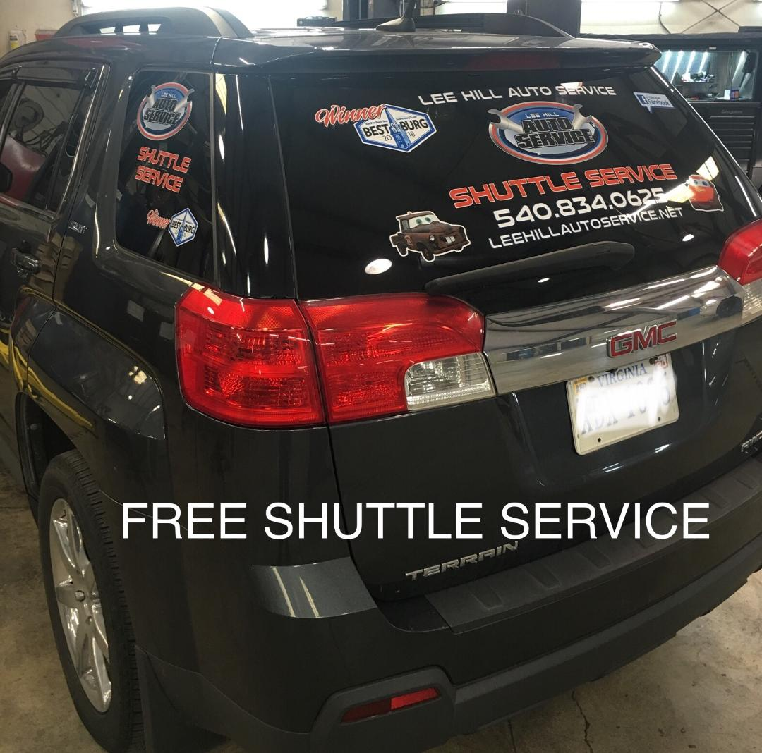Free Shuttle Service Around Town At Leehillautoservice Net